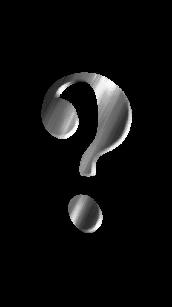 Question mark silver