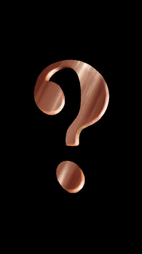 question mark bronze