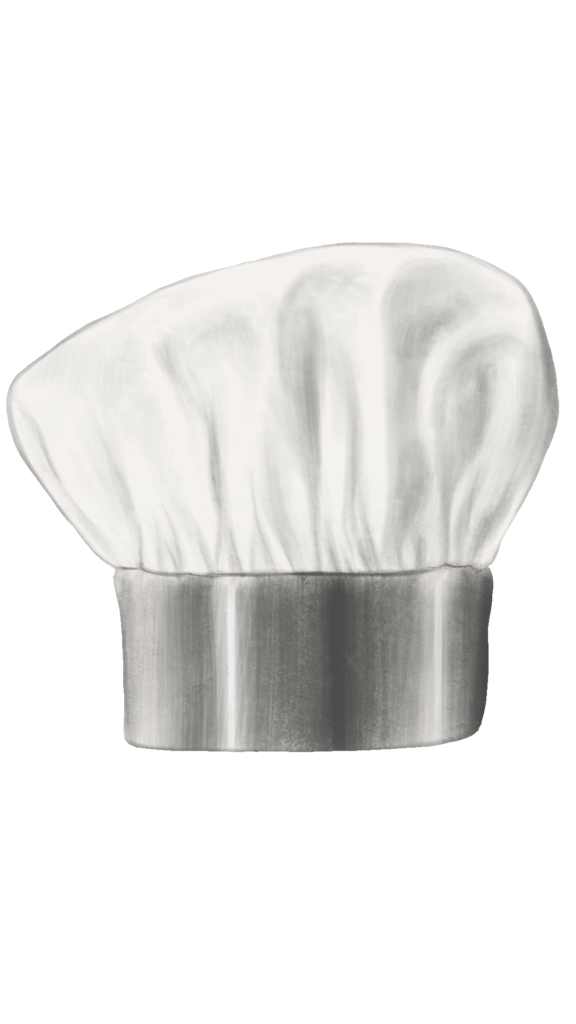 chef hat (silver)